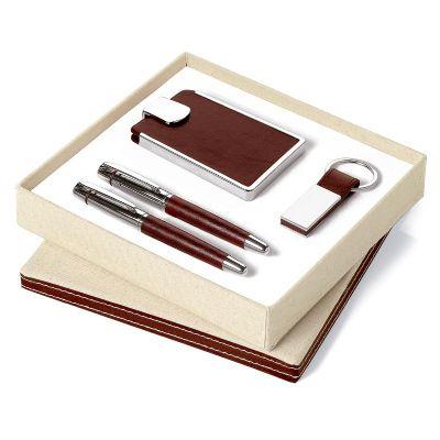 Promus Brindes - Kit caneta roller ball e chaveiro. Ambos em metal