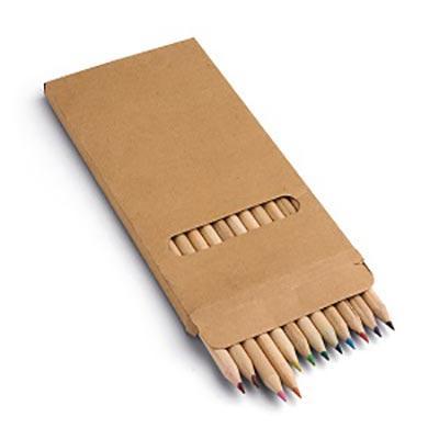 Promus Brindes - Caixa de cartão com 12 lápis de cor
