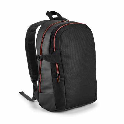 Promus Brindes - Mochila para Notebook para Brinde 900D e couro sintético. Com 2 compartimentos. Compartimento posterior forrado, com divisória almofadada para noteboo...