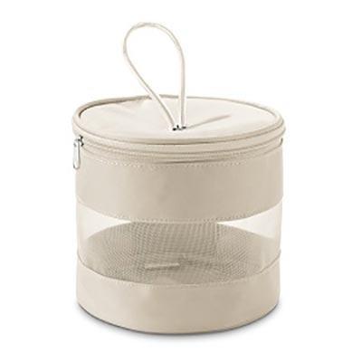 Promus Brindes - Bolsa de cosméticos. Microfibra e tela