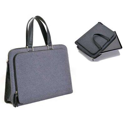 promus-brindes - Notebag em tecido ecológico com compartimentos para laptop