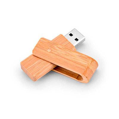 Promus Brindes - Pen drive em Bambu com Capacidade para 8GB