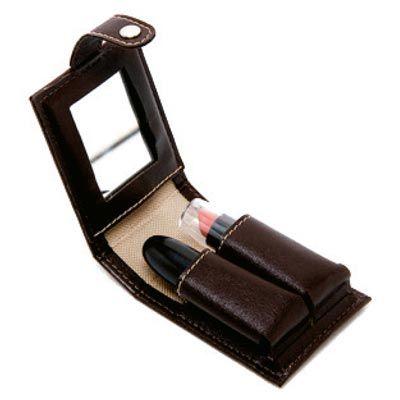 Promus Brindes - Porta batons em couro sintético com espelho
