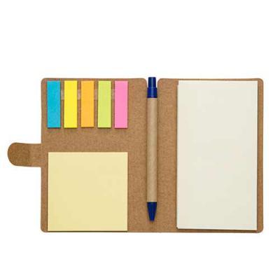 Brindes Qualy - Bloco de anotações com sticky notes e caneta ecológica