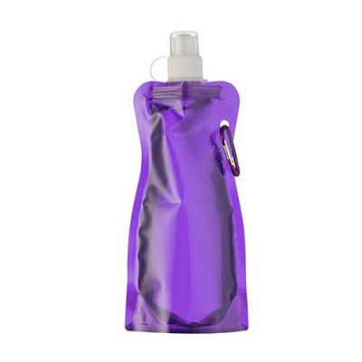 Brindes Qualy - Squeeze de plástico dobrável com mosquetão acinturado