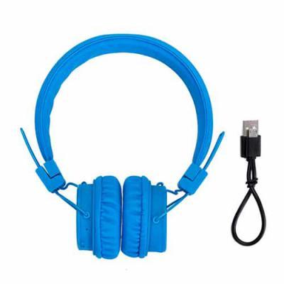 Brindes Qualy - Head phone wireless com entradas P2 e USB, função rádio, microfone para atender chamadas, wireless com alcance de 10m.