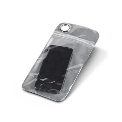 Qualy Brindes - Bolsa para celular. PVC. Impermeável (não aconselhável imersão). Permite utilização touch. Para smartphone 5.5''. 100 x 220 mm