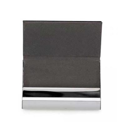 qualy-brindes - Porta-cartão de metal inox