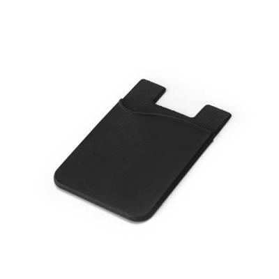 Brindes Qualy - Porta cartões para celular. Silicone. Com autocolante no verso. 57 x 87 x 3 mm