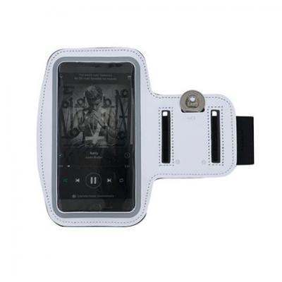Brindes Qualy - Braçadeira porta celular em neoprene, tamanho 16cmx48cm para celular até  07 polegadas, gravação em tampografia.