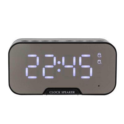 Brindes Qualy - Caixa de som multimídia com relógio e suporte para celular