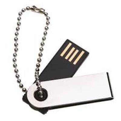 Brindes Qualy - Pen-drive com corrente