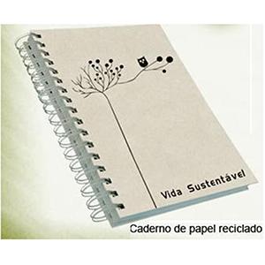 Qualy Brindes - Caderno com capa dura e acabamento em Wire-o