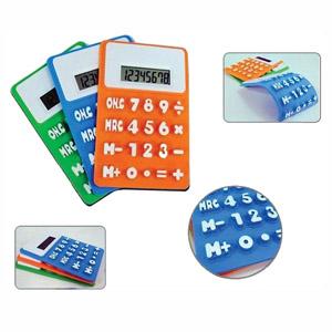 Qualy Brindes - Calculadora flexível em diversas cores.