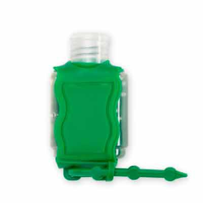 Brindes Qualy - Chaveiro Porta Álcool Gel - verde
