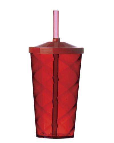 Brindes Qualy - Copo plástico translucido, colorido, nas capacidades: 350 ml, 550 ml, 700 ml.  Opcional: Tampa e canudo.