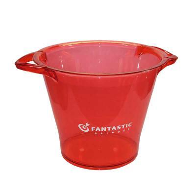 Fantastic Brindes - Balde de gelo personalizado | Fantastic Brindes  Material: Plástico PS cristal Capacidade: 5 litros Medidas: 25 cm de diâmetro (boca), 15,5 cm de diâm...