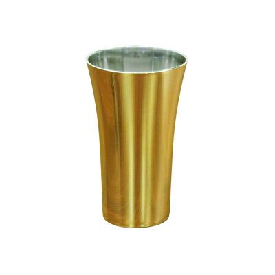 Fantastic Brindes - Copo space metalizado dourado personalizado