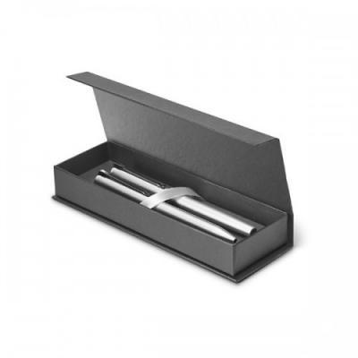 Fantastic Brindes - Caneta Metal 81400 personalizada  KLOS Conjunto de roller e esferográfica em alumínio Com estojo premium almofadado Clipe em ferro com acabamento bril...