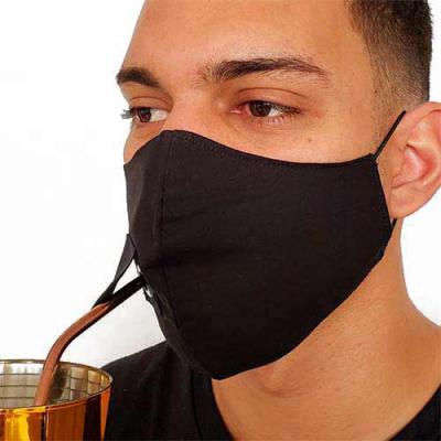 Fantastic Brindes - Máscara com Furo Lateral personalizada   Material: 100% Algodão  Camada dupla.  Furo lateral que permite o usuário tomar um suco com canudo sem a nece...