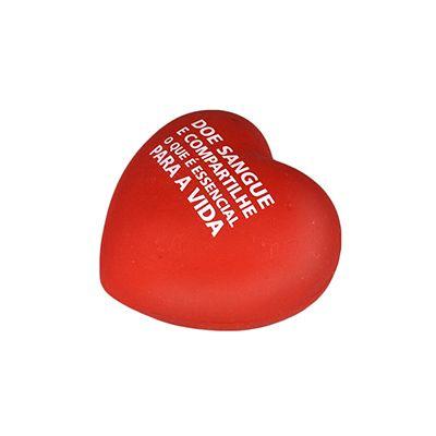 Coração anti stress de vinil personalizado. Tem como medidas: 6,1 x 5,7 cm...