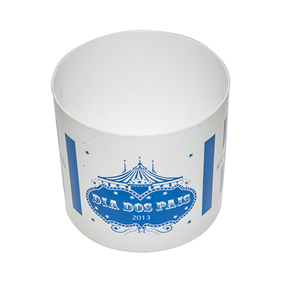 Fantastic Brindes - Balde de pipoca de plástico com 1,5 Litros personalizado.