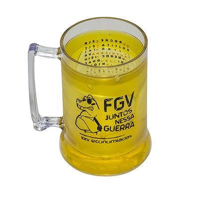 fantastic-brindes - Caneca de chopp com gel em p.s. cristal personalizada