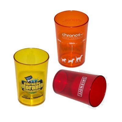 Fantastic Brindes - Copo 350 personalizado Material: Plástico PS cristal. Capacidade: 350 ml. Medidas: 7,8 cm de diâmetro (boca), 6,2 cm de diâmetro (base) e 11,2 cm de a...