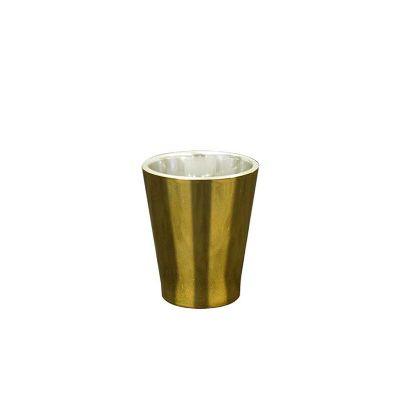 Fantastic Brindes - Copo dose metalizado dourado personalizado