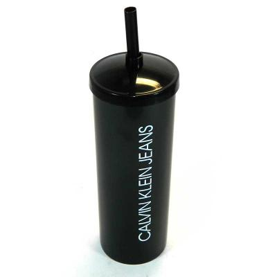 Fantastic Brindes - Copo long drink com tampa e canudo