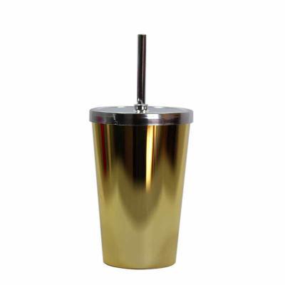 Fantastic Brindes - Copo 550 com tampa e canudo metalizado personalizado Material: Plástico PS cristal.  Capacidade: 550 ml.  Medidas: 9,2 cm de diâmetro (boca), 6,2 cm d...