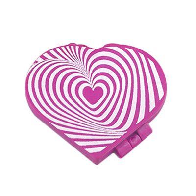 Fantastic Brindes - Espelho de bolsa coração personalizado Material: plástico PS alto impacto Medidas: 7 cm de largura por 6,5 cm de altura Peso: 27 gramas Opção de perso...