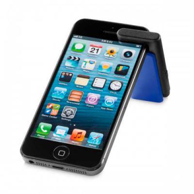 fantastic-brindes - Suporte para celular personalizado  Material: PS  Medidas: 70 x 34 x 13 mm  Com ponteira touch e limpador de tela
