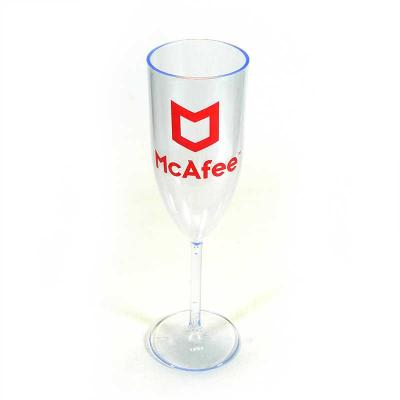 Fantastic Brindes - Taça de champanhe personalizada Material:Plástico PS cristal. Capacidade: 170 ml. Medidas: 22 cm de altura por 6,6 cm de largura (base) e 5,4 cm de la...