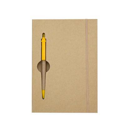 Toca dos Brindes - Bloco de anotações ecológico colorido com caneta