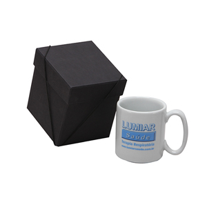 Donare Presentes - Caneca personalizada em porcelana - caixa em papelão contendo caneca.