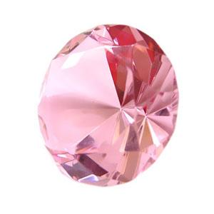 by-luciana-godoy - Peso de papel diamante rosa