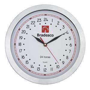 8471b5a969d Relógio 24 horas de confeccionado em metal escovado