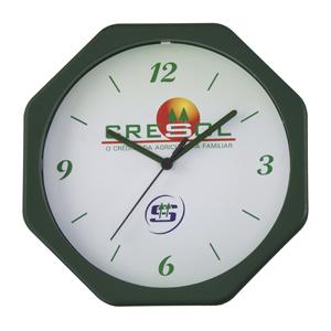 Icones Relógios - Relógio oitavado nas medidas: 24 X 24 cm.