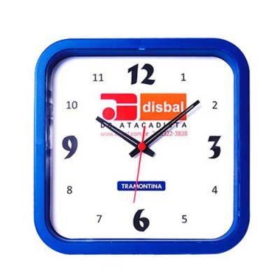 Icones Relógios - Relógio quadrado nas medidas: 30 x 30 cm.  Não perca tempo, garanta já o seu!