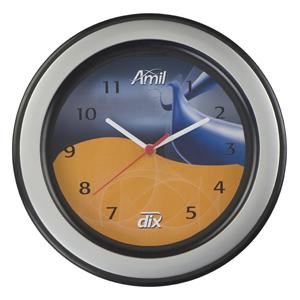 Icones Relógios - Relógio redondo com aro decorativo, com 30 cm de diâmetro. Personalize já o seu!