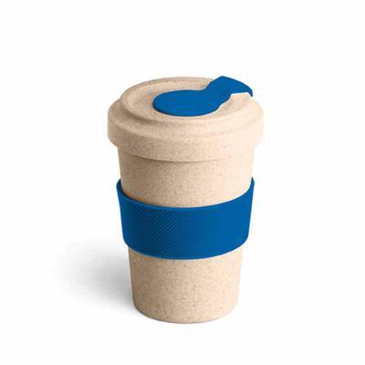 Store Gift - Copo para viagem em fibra de bambu, com banda de silicone e tampa, capacidade de 500ml