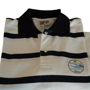 Keep Out Confecções - Camisa pólo listrada. Personalize com diferentes tipos de gravações.
