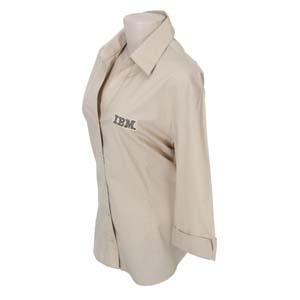 Keep Out Confecções - Camisa social feminina em tricoline mista.