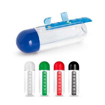Line Brindes - Squeeze com porta-comprimidos