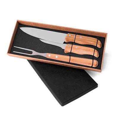 Line Brindes - conjunto de facas 3 peças