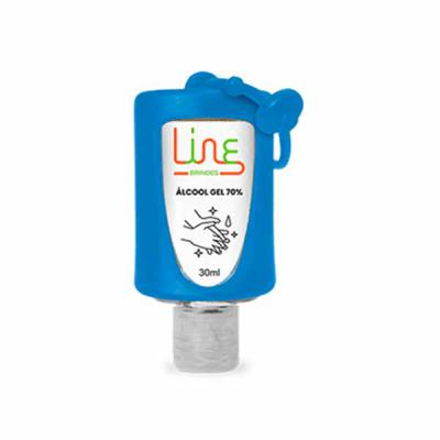 Line Brindes - Álcool Gel com suporte - 30ml