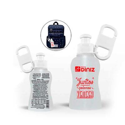 Line Brindes - Chaveiro Álcool Gel 70º - 80 ml