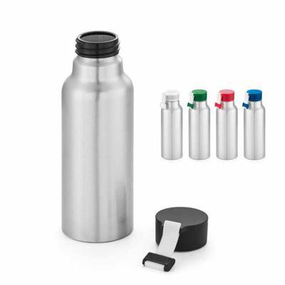 Line Brindes - Squeeze. Alumínio. Com fita em silicone. Capacidade: 570 ml. Food grade. Caixa branca 94656 vendida opcionalmente. Ø66 x 205 mm