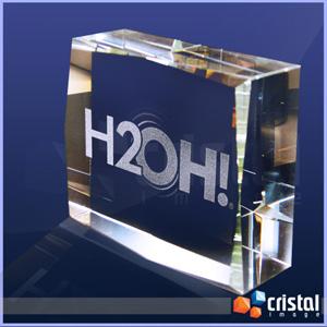 Cristal Image - Bloco Personalizado em Cristal 100% transparente com gravação laser no interior da peça em 2D ou 3D. Pode ser gravado na posição horizontal ou vertica...